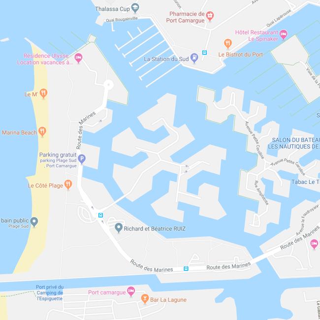 NS Guesthouse - Marina de luxe à Port Camargue France - Nous situer